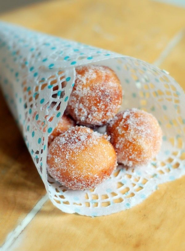 donut holes- they would go with the brunch food!