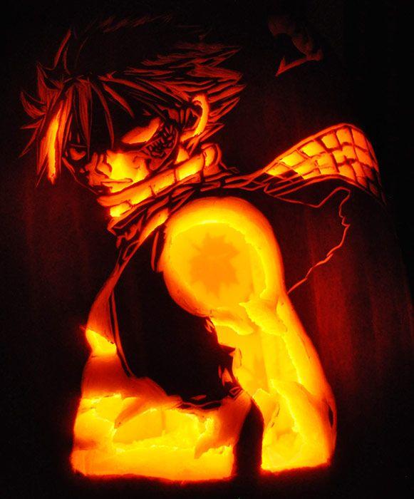 Fairy tail natsu pumpkins google search pumpkin for Fairytale pumpkin carving ideas