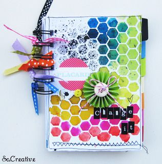 """Love the """"rainbow"""" effect in this album!  Change It by So.Creative at Studio Calico"""