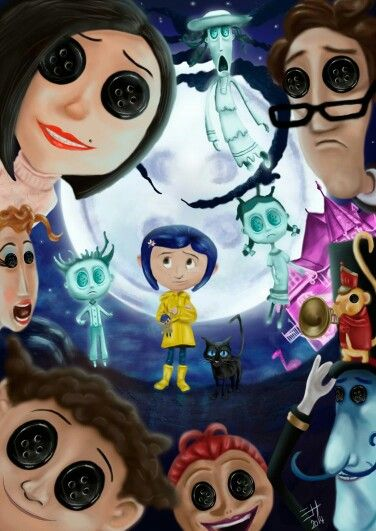 Coraline They Key Elements Form This Film Was The Button Eyes Cit Took Away Their Personality Filme Coraline Imagens De Desenhos Animados Wallpapers De Filmes