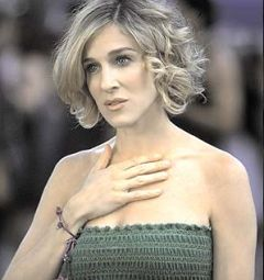 Sarah Jessica Parker Short Hair I Think This Is What I Want Medium Curly Hair Styles Short Hair Styles Messy Hairstyles