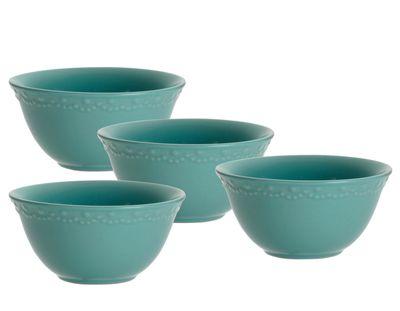 Paula Deen Whitaker Aqua 6-inch Cereal Bowls (Set of 4)  sc 1 st  Pinterest & Paula Deen Whitaker Aqua 6-inch Cereal Bowls (Set of 4) | For the ...