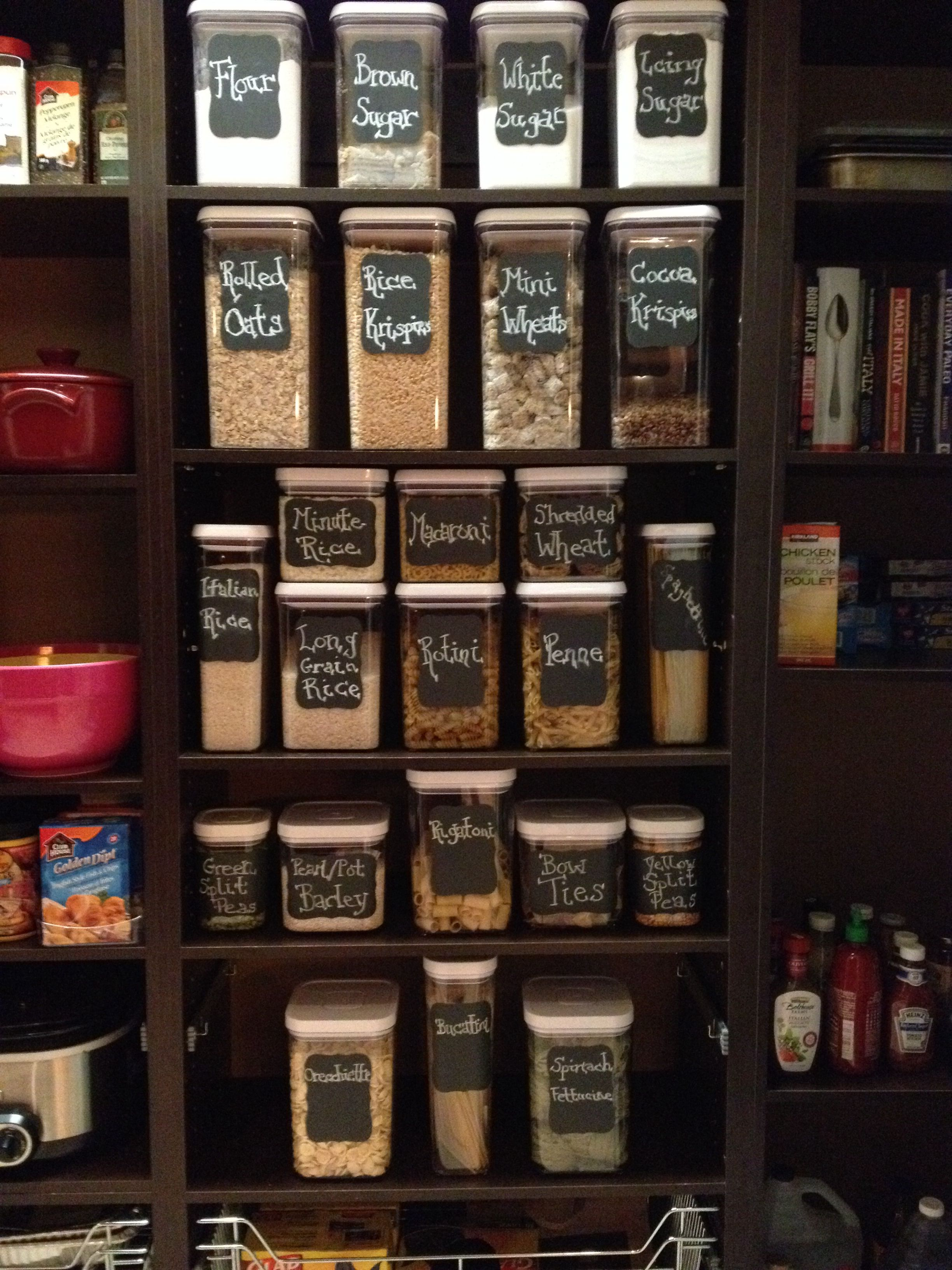 Pantry Organization Using Oxo Containers And Martha
