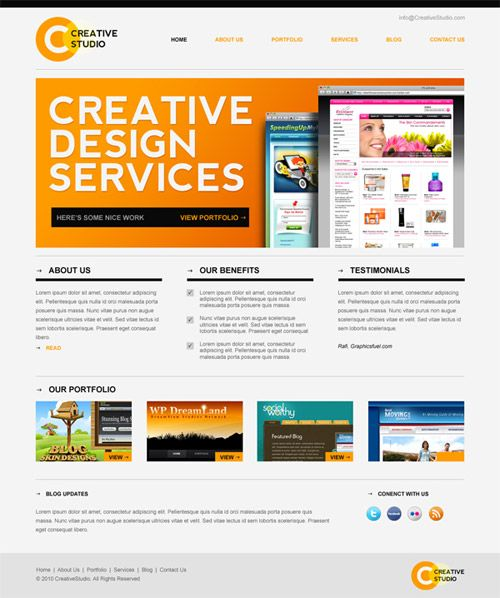 30 Free PSD Web Design Templates | Psd templates, Template and ...