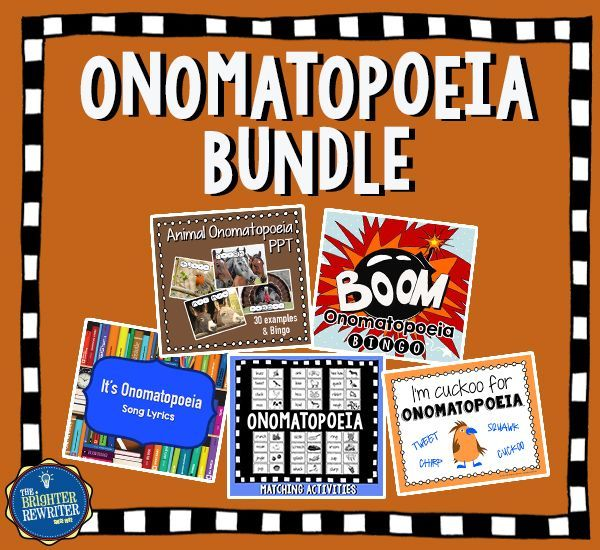 Identify And Practice Onomatopoeia With A Ppt 2 Bingo Games Song