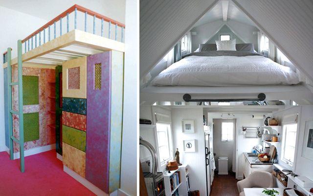 como decorar espacios pequeos con camas en alto