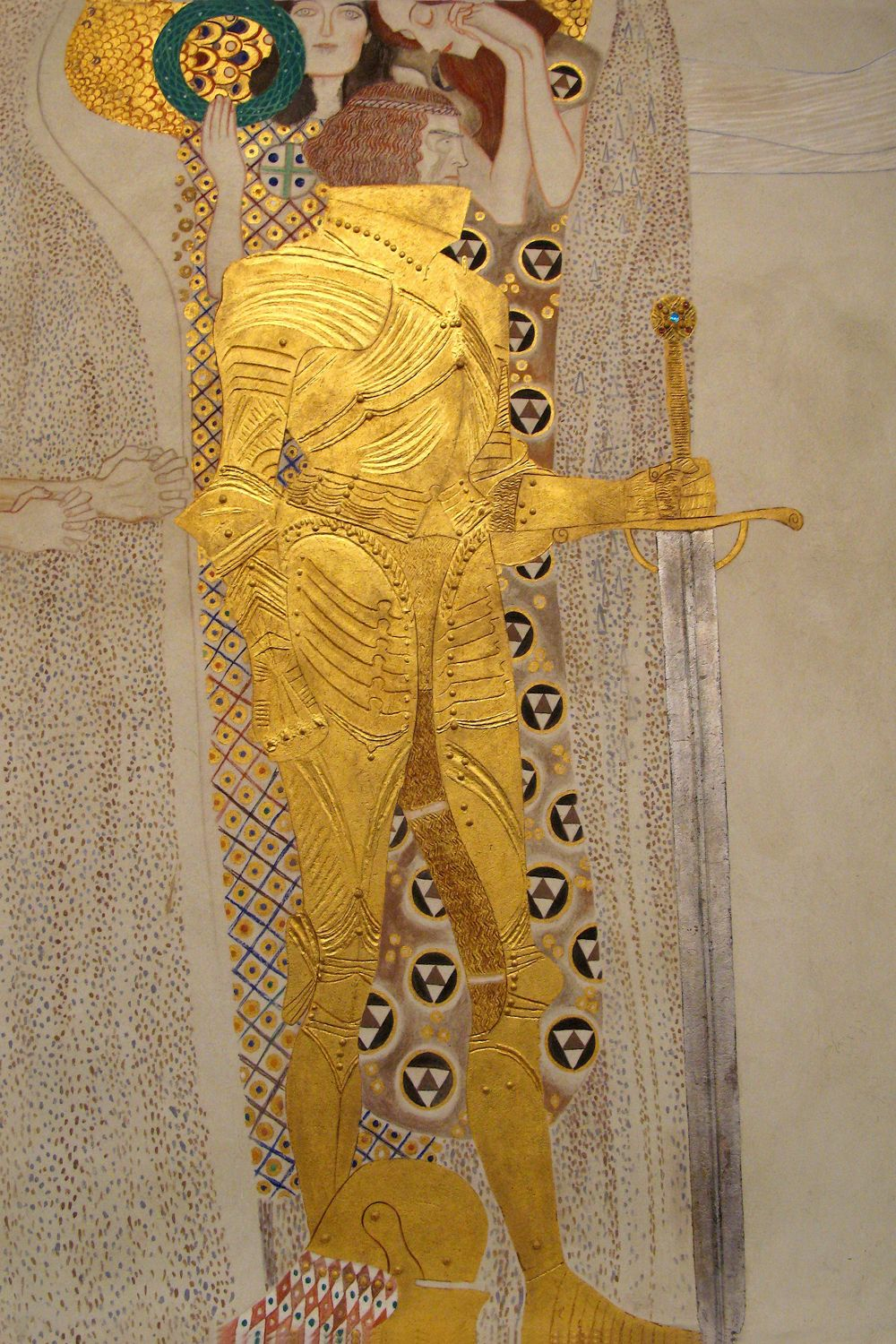 Detail Of The Knight Beethoven Frieze 1902 Ar Gustav Klimt Icanvas In 2021 Klimt Art Gustav Klimt Gustav Klimt Art