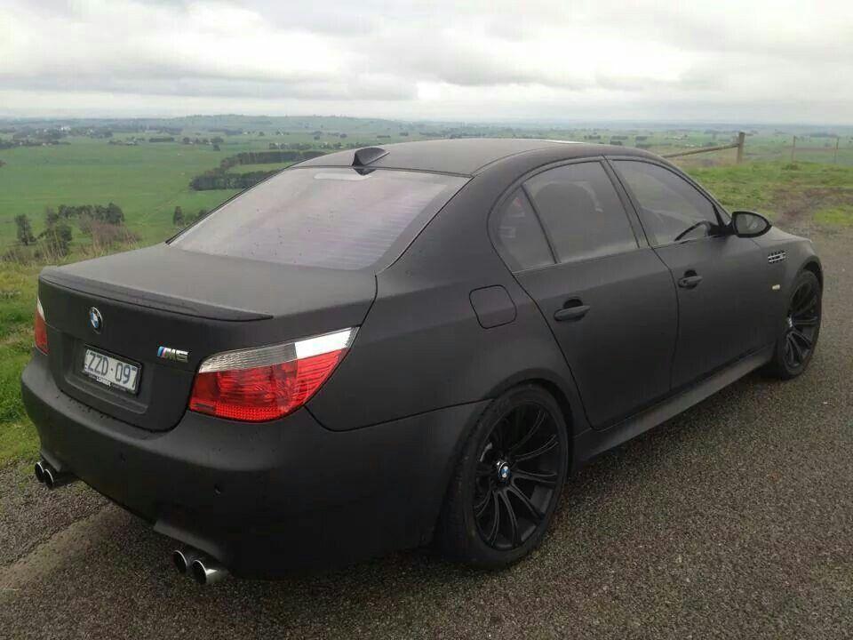 Bmw E60 M5 Matte Black Bmw E60 Bmw M5 E60 Bmw M5