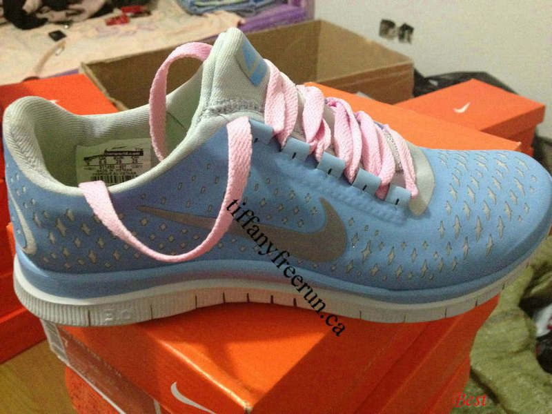 015721ca4058 Womens Nike Free 3.0 V4 Prism Blue Reflective Silver Sail Light Pink Lace  Shoes  Tiffany Free Run 1541  -  51.72   Tiffany Free Runs