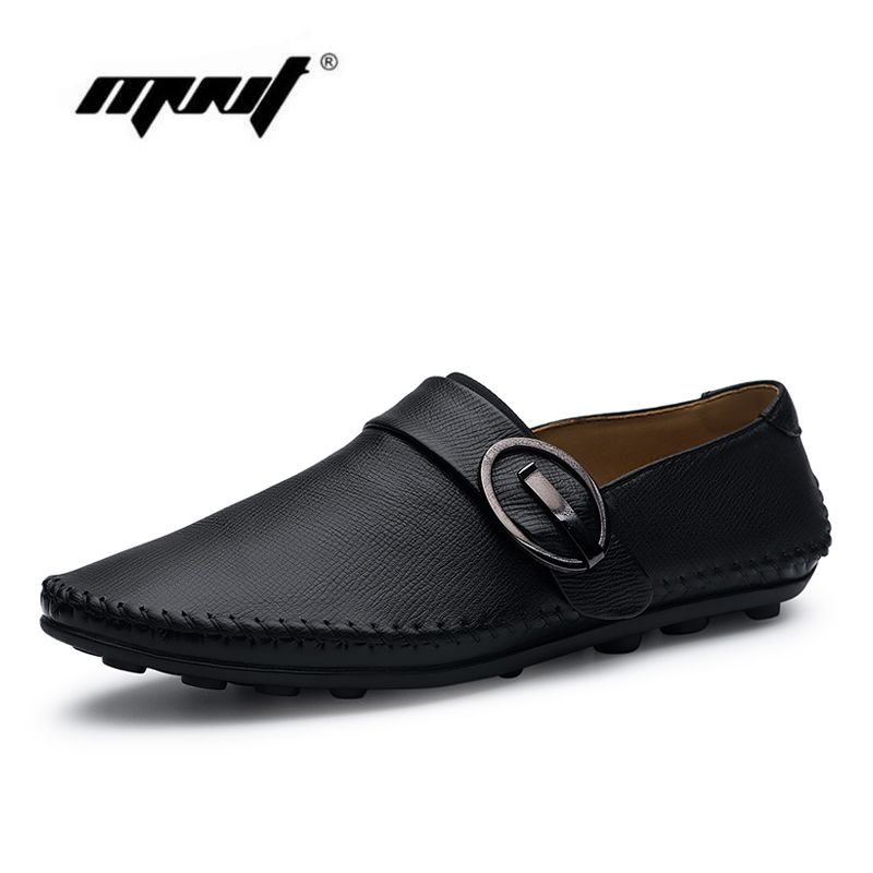 dd74eab87f11 New Arrive Men Causal Shoes Genuine Leather Shoes Men Slip On Flats ...