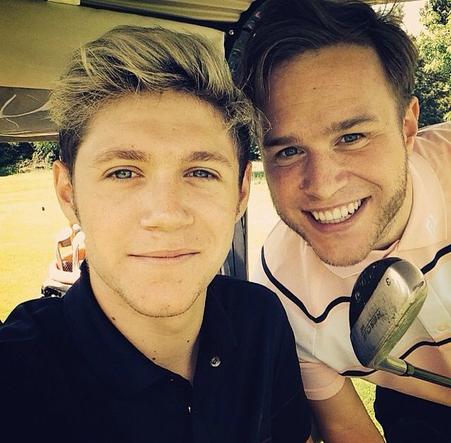 Niall and Olly playing golf