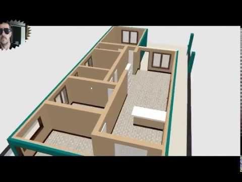 Planta 3d Para Casa De 3 Quartos Sendo Uma Suite Youtube Casas