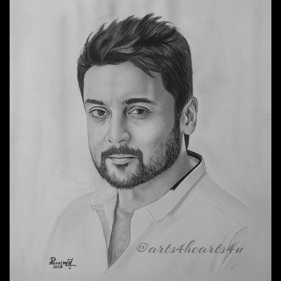 Suriya suriya sivakumar actor tamil kollywood pencil sketching drawing s