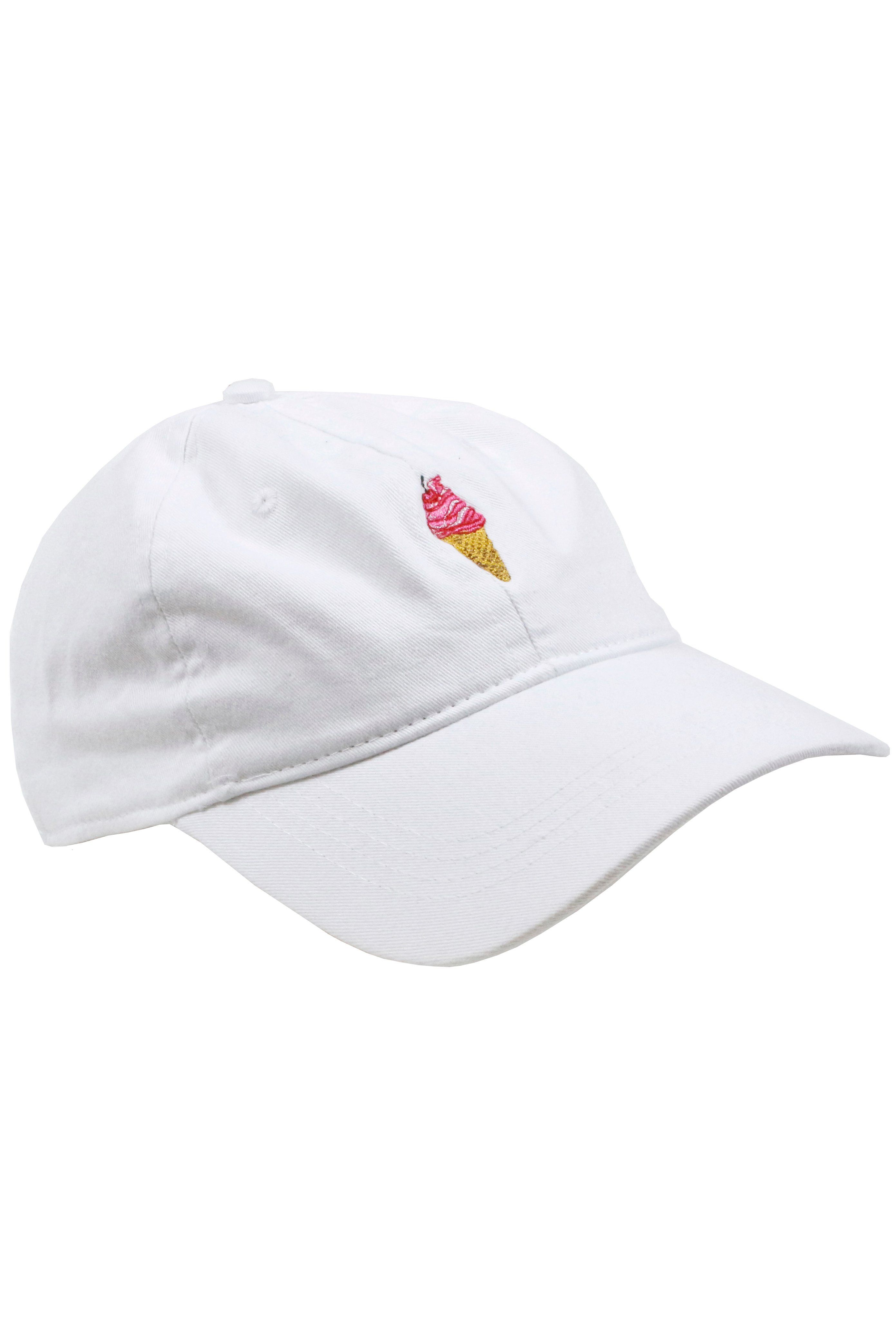 5bf91bddb73 Men s Ice Cream Cone Adjustable White Dad Hat