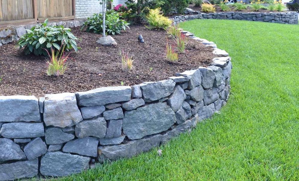 Basalt Rock Walls Steps Lewis Landscape Services Rock Wall Landscape Rock Wall Gardens Stone Walls Garden