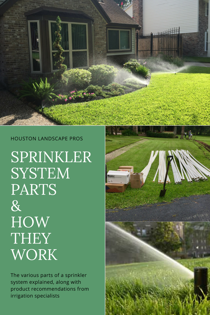 learn all about the different parts of the a basic sprinkler