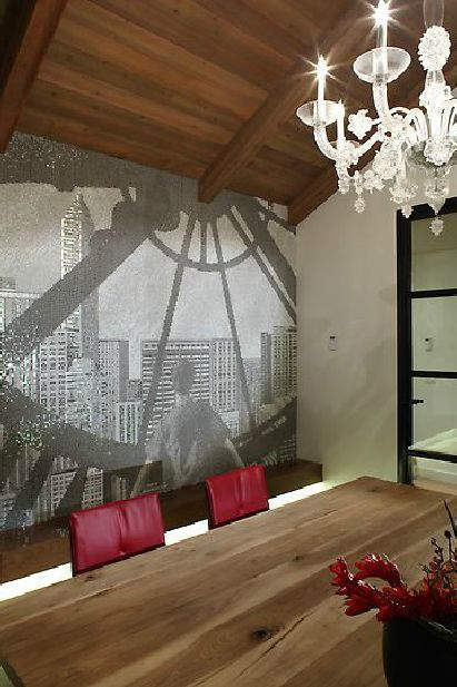 A Custom Wall Mural In Vancouver By Living Environments Design. Tile By  World Mosaic Tile
