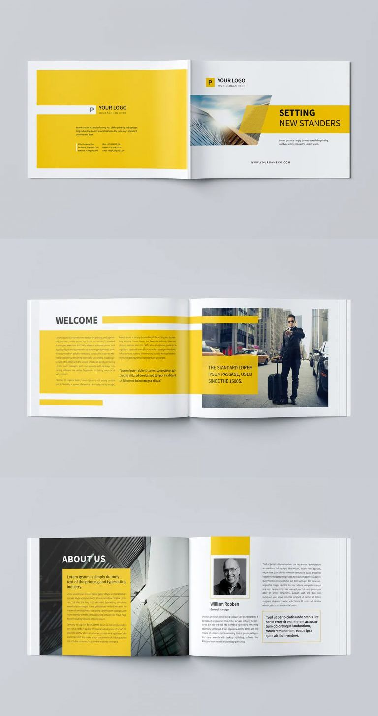 Minimal Business Brochure Template Psd In 2020 Business Brochure Brochure Template Psd Brochure Template