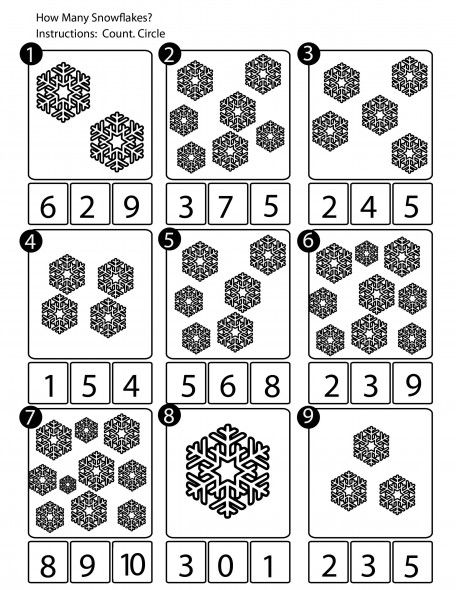 winter counting worksheet math math worksheets preschool. Black Bedroom Furniture Sets. Home Design Ideas