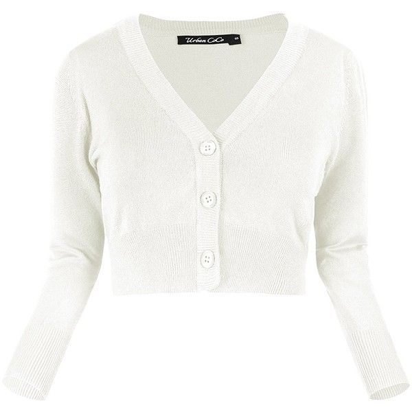 Urban CoCo Women's Cropped Cardigan V neck Button Down