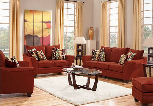 Tremendous Santa Monica Red 7 Pc Living Room Living Room Classic Home Interior And Landscaping Transignezvosmurscom