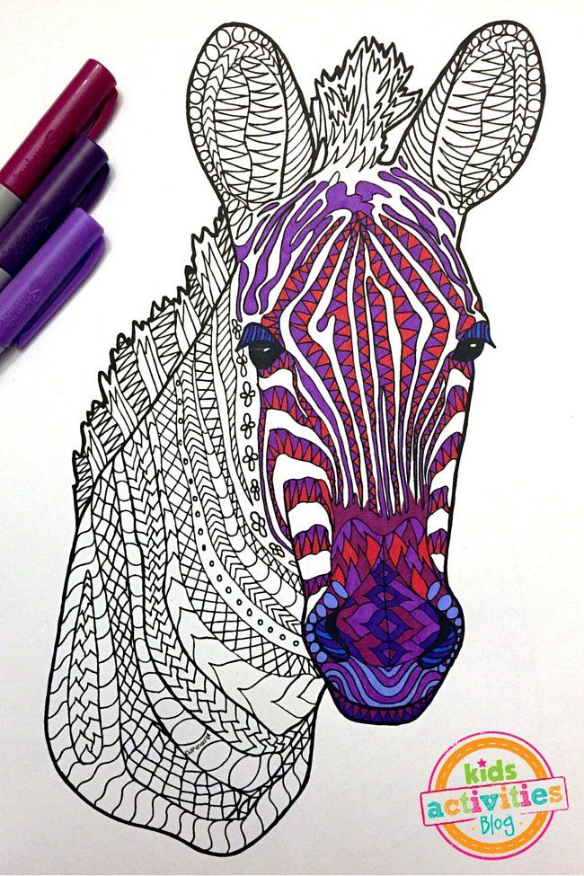 Gorgeous Zebra Zentangle Pattern Coloring Page Animal Coloring Pages Zebra Coloring Pages Zentangle Animals