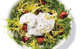 Poached Egg Whites and Turkey Bacon Salad
