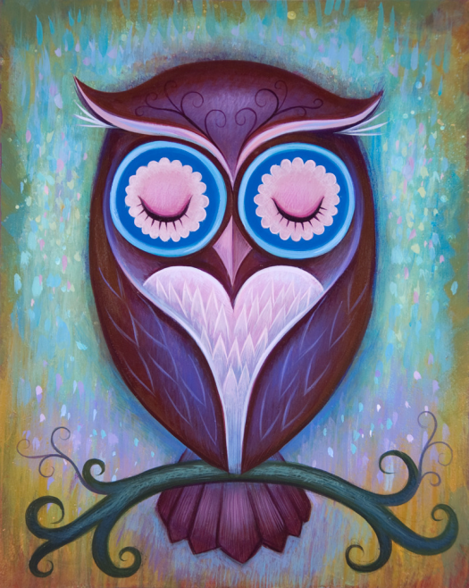 Night owl acrylic painting paintings out these for Night owl paint color