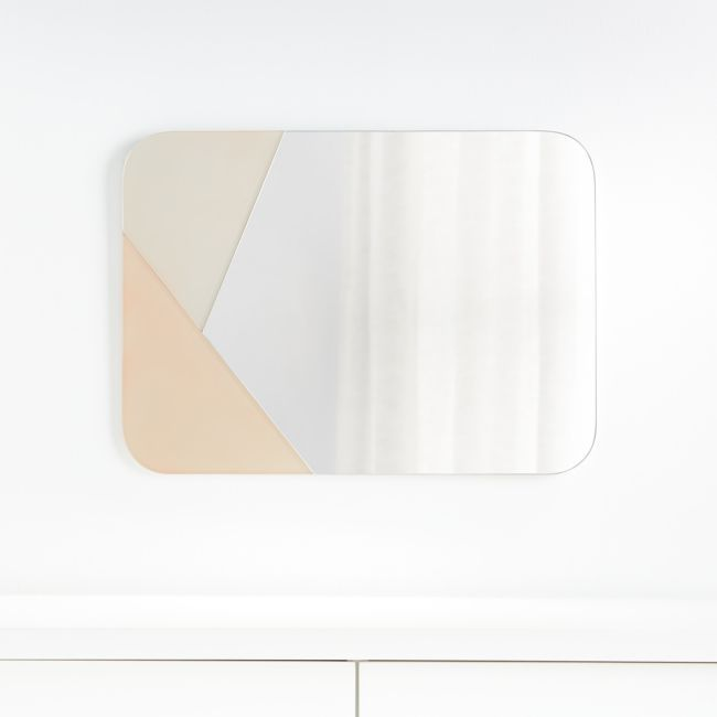 Color Block Mirror + Reviews | Crate and Barrel