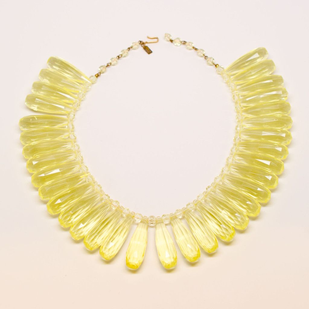 Hattie Carnegie S Chartreuse Bead Necklace