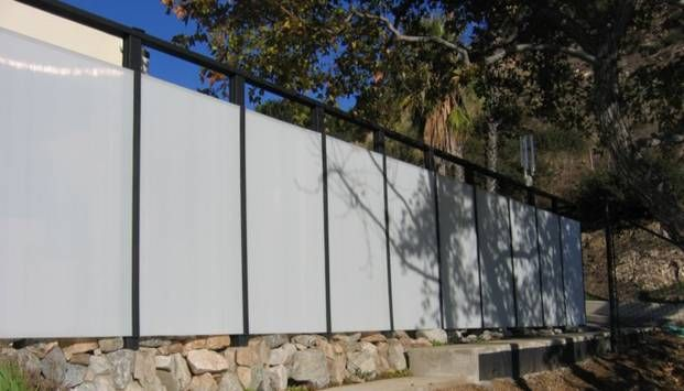 Acrylic Panel Fence Home Exterior Fences In 2019