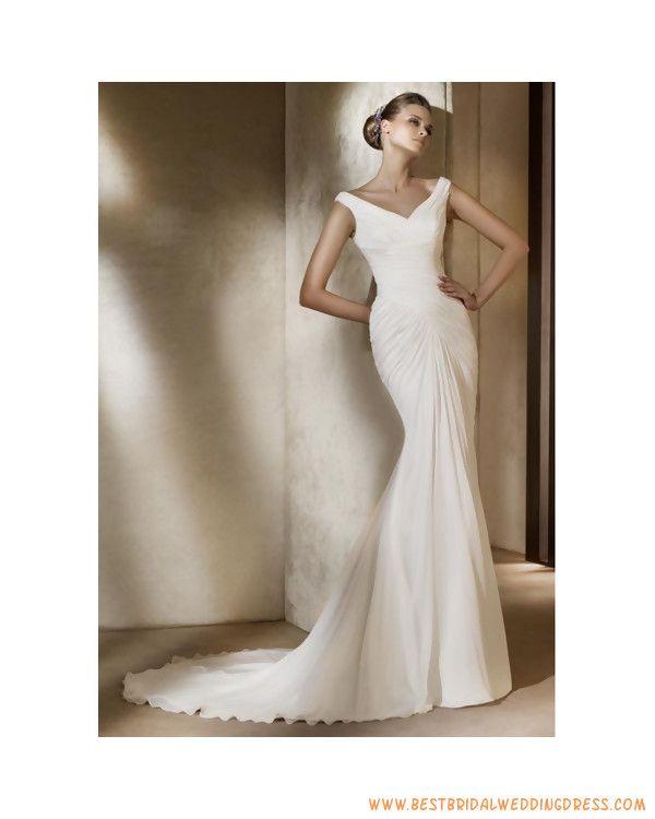 off the shoulder pleated waist sheath wedding dress for curvy figure girls th0001