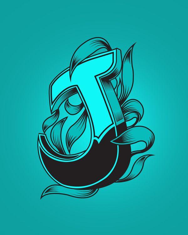 J Calligraphy, Graffiti Lettering, Letter
