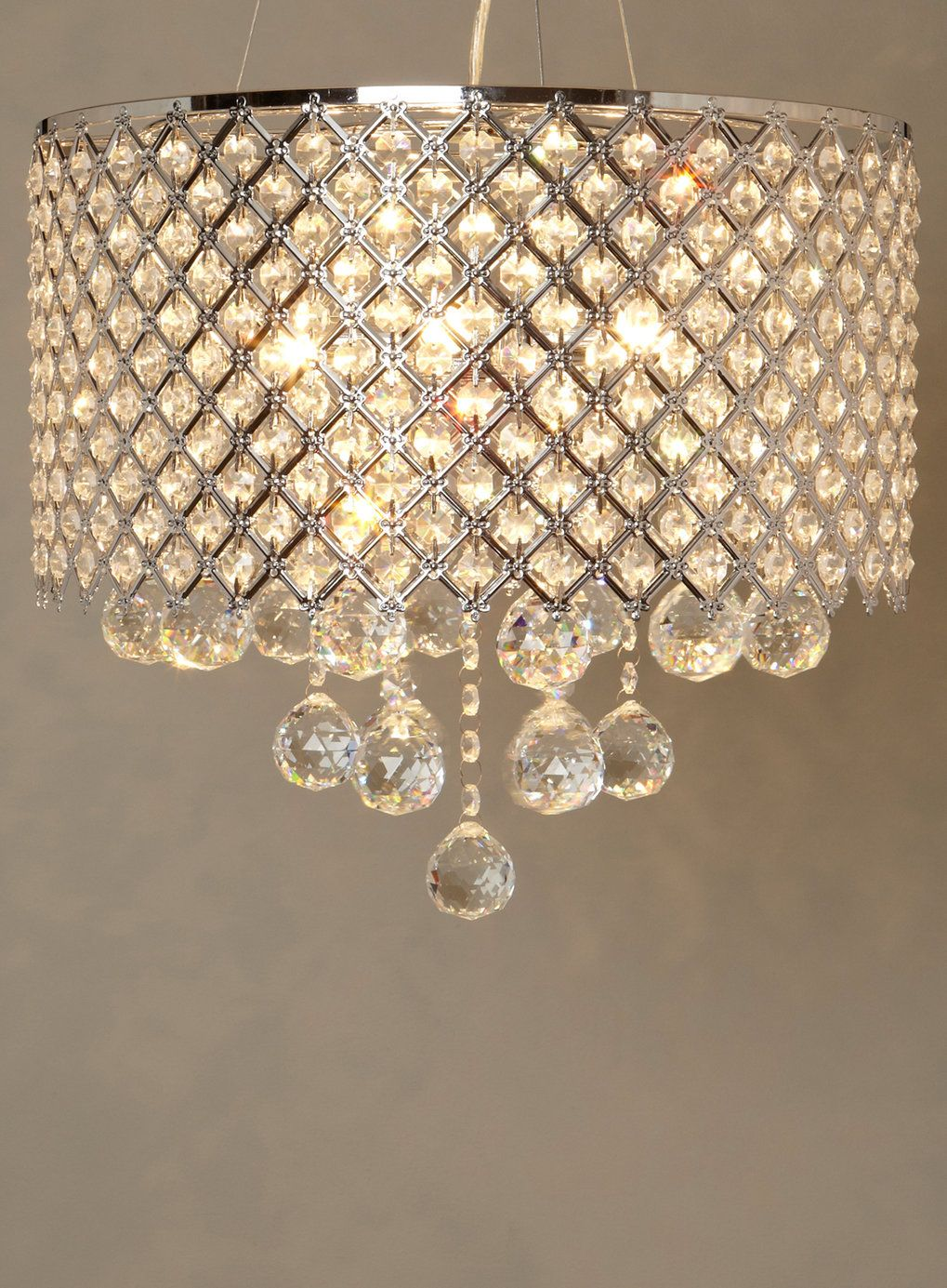 Bhs ceiling lights crystal theteenline chrome petra pendant ceiling lights home lighting furniture arubaitofo Image collections