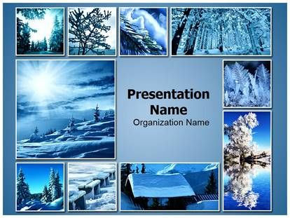 Download Winter Snowfall Collage Powerpoint Template For Your