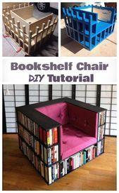 DIY bookshelf chair for bookworms designinteriores   DIY bookshelf chair for bookworms designinteriores