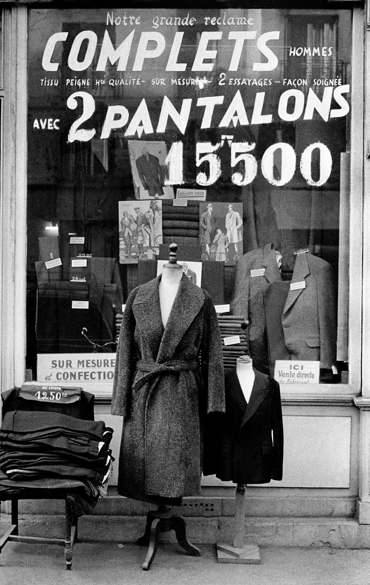 1955, Paris, tailor shop by Frank Horvat