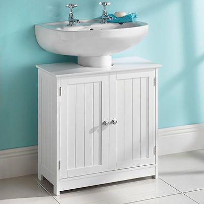 Under Sink Basin Bathroom Storage Cabinet Organizer Unit White Wood Furniture 1000027012207 Ebay Wooden Bathroom Cabinets Bathroom Sink Storage Under Bathroom Sink Storage