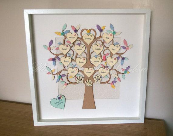FAMILY TREE FRAME - Extra large Handmade Family Tree Frame, any ...