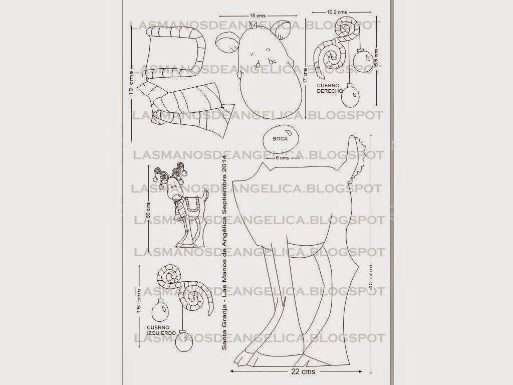 Las Manos de Angelica: Reno de Navidad | MOLDES NAVIDAD | Pinterest ...
