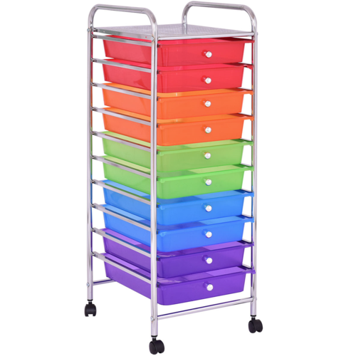 10 Drawers Rolling Storage Cart Rolling Storage Cart Colorful Storage Rolling Storage