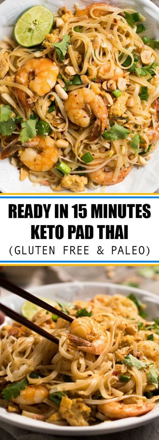 Ready in 15 Minutes Keto Pad Thai (Gluten Free & Paleo)   Whip up this low carb paleo & keto pad Thai in just 15 minutes for true and incomparable traditional flavors! Make it with shrimp or chicken (or both!) for an ideal keto weeknight meal.   bokinghotel.online