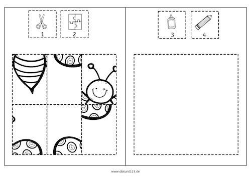 schmetterlinge ausschneiden puzzeln kleben ausmalen grundschule kinder unterrichten. Black Bedroom Furniture Sets. Home Design Ideas