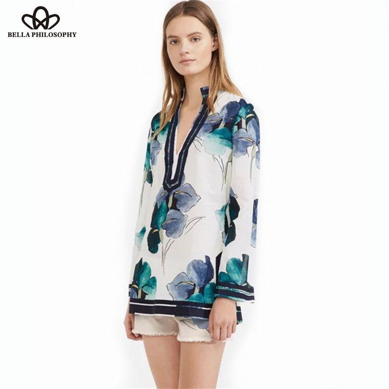 2015 autumn winter new vintage ink green blue flower print silk cotton long shirt blouse - http://www.styliate.me/http://www.styliate.com/products/2015-autumn-winter-new-vintage-ink-green-blue-flower-print-silk-cotton-long-shirt-blouse/