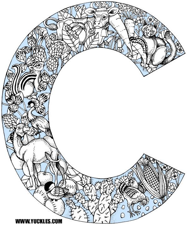 Letter C Coloring Page By Yuckles Animal Alphabet Letters Animal Coloring Pages Alphabet Letters To Print