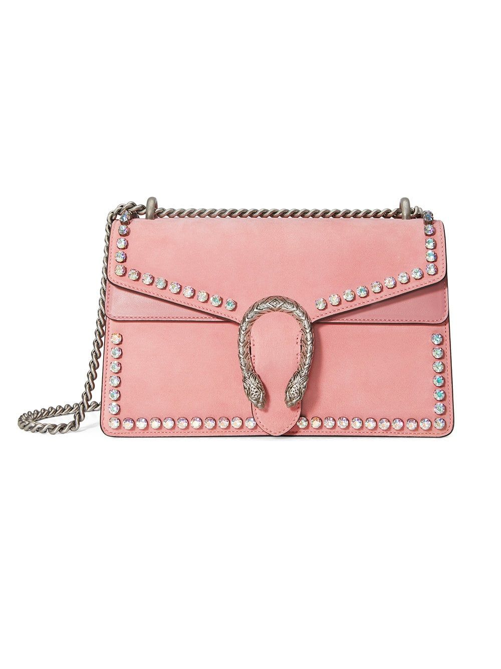 24c24ab1a52 GUCCI Pink leather Pink Dionysus Crystal suede shoulder bag from Gucci.