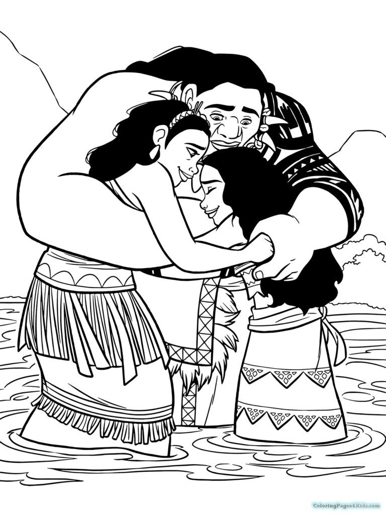 Moana Coloring Pages Moana Coloring Pages Family Coloring Pages