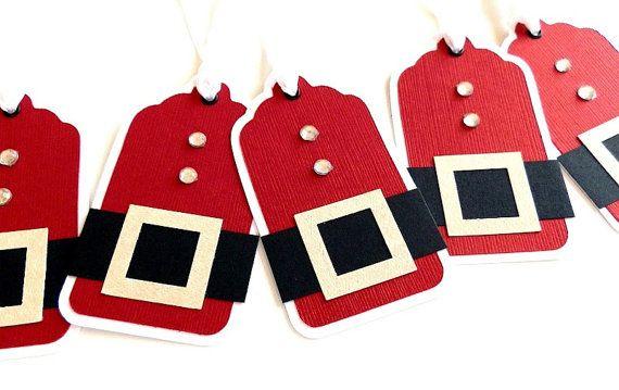 Santa Christmas Tags