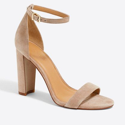 b7a41a95c1 I'm looking for ankle strap, stacked heel sandals like these. I love this  heel height! Nude would be great, but I would do color or black as well!