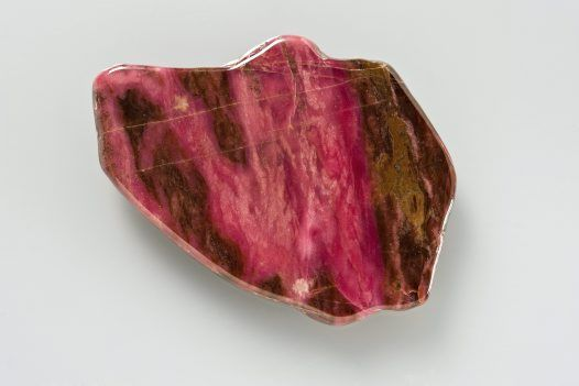Polished rhodonite slice, Danglemah, New South Wales